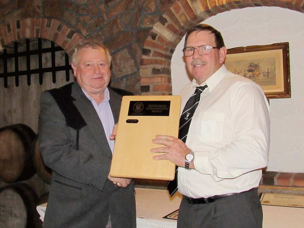 National Sheep Industry Award presented to Brian Greaves