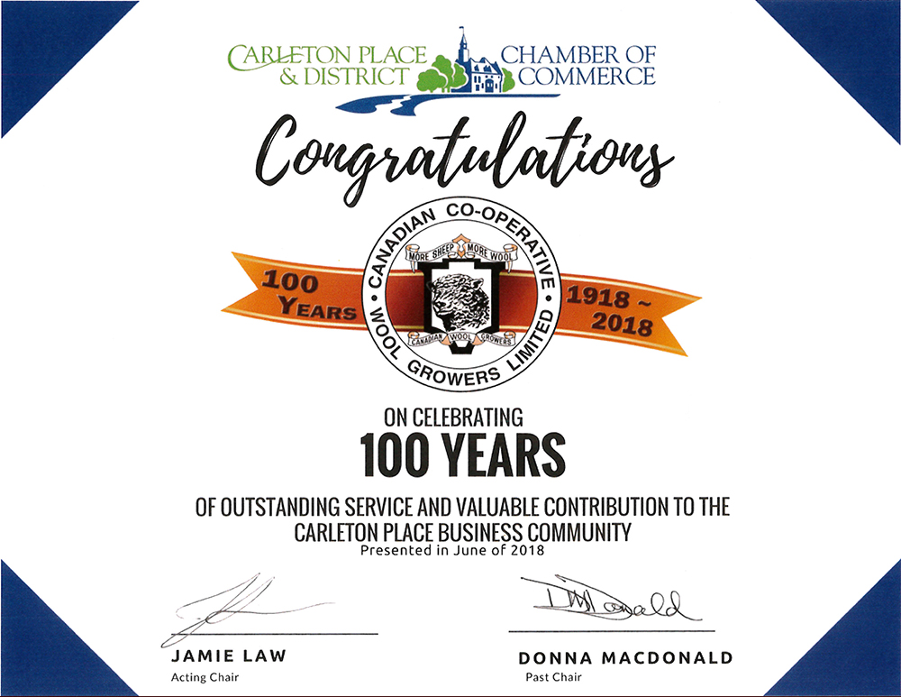 100 years of outstanding service for CCWG in Carleton Place