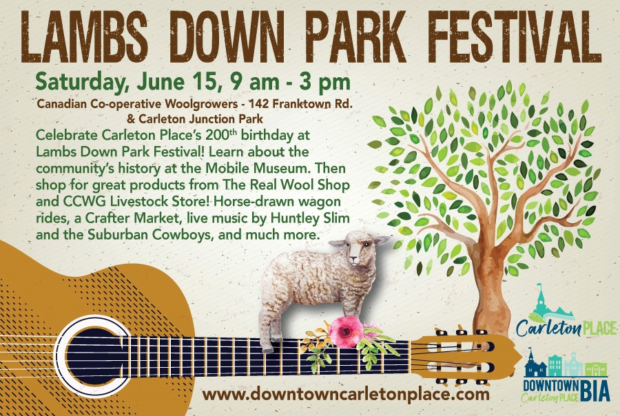 2019 Lambs Down Park Festival poster